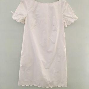 Classic scalloped white dress